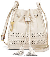 Fossil Claire Whip-Stitched Tasseled Drawstring Small Cross-Body Bag