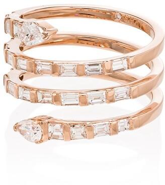 Shay 18kt gold Pear Spiral diamond ring