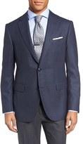 Pal Zileri Men's Classic Fit Houndstooth Wool Sport Coat