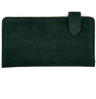 Atelier Hiva Fluctus Suede Wallet Forest Green