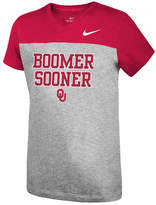 Nike Girls' Oklahoma Sooners Color Block Phrase T-Shirt