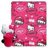 Hello Kitty NFL Jets Blanket and Hugger Bundle (40 x 50)