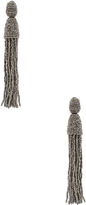 Oscar de la Renta Classic Long Tassel Earrings