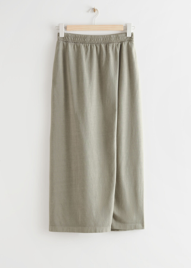 Thumbnail for your product : And other stories Jersey Midi Wrap Skirt