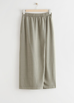 And other stories Jersey Midi Wrap Skirt