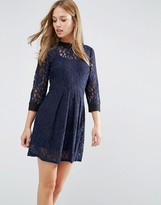 BCBGeneration Lace Collar Dress