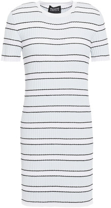 Markus Lupfer Mary Striped Stretch-knit Mini Dress