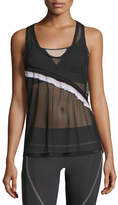 Koral Activewear Division Sheer Mesh Scoop-Neck Performance Tank