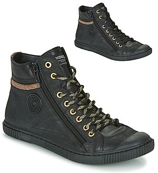 Pataugas BONO women's Shoes (High-top Trainers) in Black