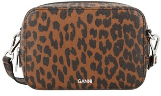 Ganni Leather crossbody bag
