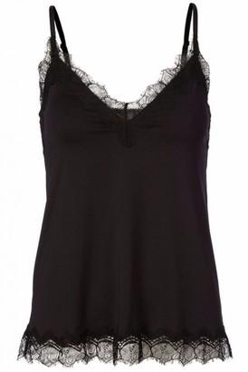 Rosemunde Black Billie Strap Top With Lace - 34
