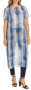 Vince Camuto Linear Print Dress