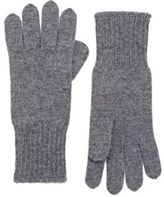 Barneys New York WOMEN'S STOCKINETTE-STITCHED CASHMERE GLOVES-DARK GREY SIZE NA