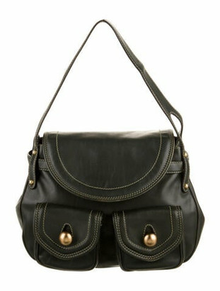 Marc Jacobs Kirsten Leather Shoulder Bag Green