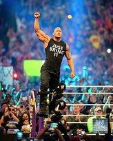 WWE The Rock Dwayne Johnson 8x10 Photo WrestleMania 30 on ropes