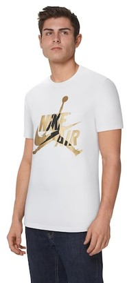 Jordan Classics Crew T-Shirt - White / Metallic Gold