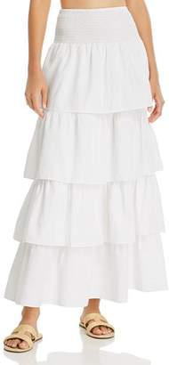Onia WeWoreWhat x Paloma Tiered Ruffle Cotton Skirt