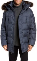 Andrew Marc Men's Altitude Quilted Down Jacket With Genuine Fox Fur Trim Hood
