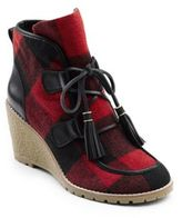 G.H. Bass Teresa Checked Wedge Boots