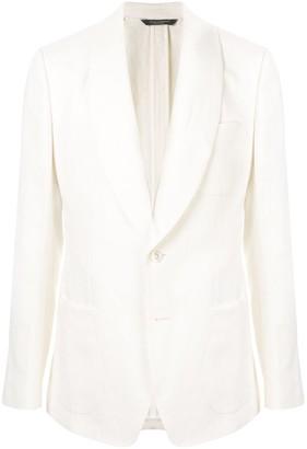 Dolce & Gabbana Single-Breasted Linen Blazer