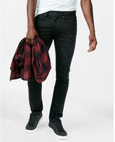 Express skinny black distressed stretch+ jeans