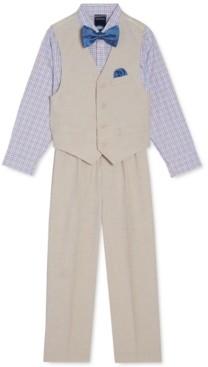 Nautica Little Boys 4-Pc. Textured Vest Set