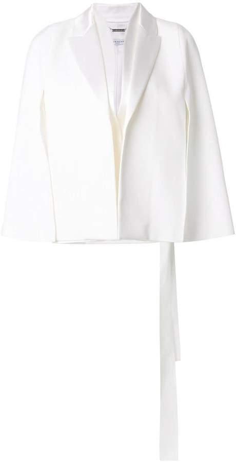 Givenchy grain de poudre tuxedo collar cape jacket