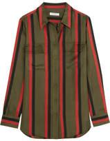 Equipment Signature Striped Silk-twill Shirt