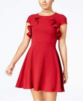 B. Darlin Juniors' Ruffled A-Line Dress