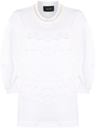Simone Rocha Perforated Scallop Detail Blouse