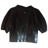 Fendi Black leather short. Top/.
