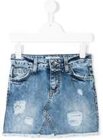 MSGM distressed denim skirt