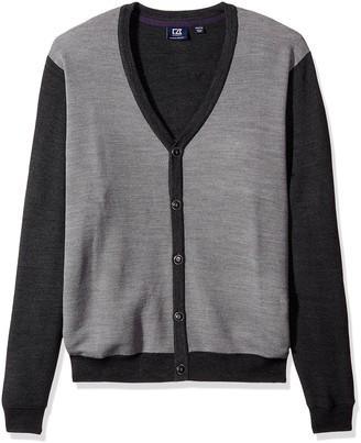 Cutter & Buck Men's Big-Tall Cornish Cardigan Sweater