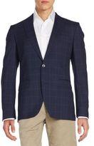 HUGO BOSS Jarett Plaid Virgin Wool Sportcoat