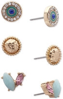 lonna & lilly Gold-Tone 3-Pc. Set Multi-Stone Stud Earrings