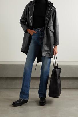 Deadwood + Net Sustain Payne Hooded Leather Parka - Black