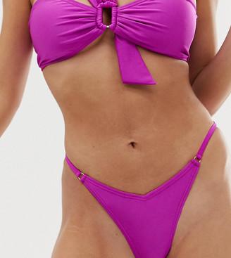 South Beach mix & match fiesta thong bikini bottom-Purple