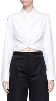 Alexander Wang Twist front cropped cotton shirt