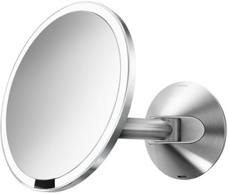 Simplehuman Wall Mounted Bathroom Sensor Mirror, Mains Operated