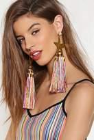 Nasty Gal Main Stage Tassel Earrings