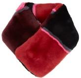 Diane von Furstenberg Striped rabbit-fur scarf