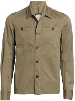 Saks Fifth Avenue COLLECTION Esemplare Military Overshirt