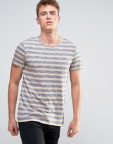 Esprit T-shirt With Melange Stripe