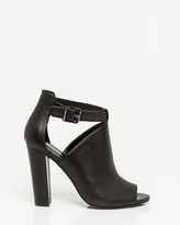 Le Château Leather Block Heel Shootie