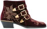 Chloé velvet 'Susanna' boots - women - Leather/Metal (Other)/Velvet - 37