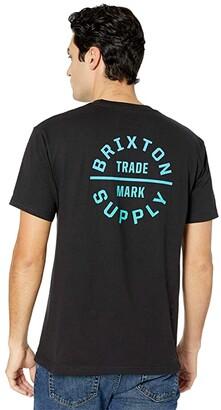Brixton Oath V Short Sleeve Standard Fit T-Shirt (Black/Gradient) Men's Clothing