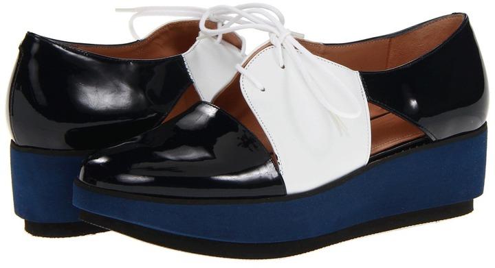 Robert Clergerie Daline (Navy Patent) - Footwear