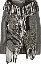 Maiyet Fringed patchwork wool-blend sweater