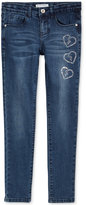 GUESS Embellished Heart Skinny Jeans, Big Girls (7-16)