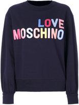 Love Moschino logo print sweatshirt - women - Cotton/Spandex/Elastane - 40